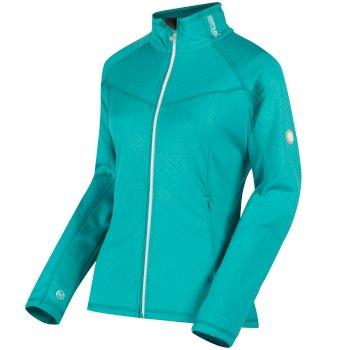 Esteli Hybrid Stretch Diamond Jacquard Softshell Jacket Aqua