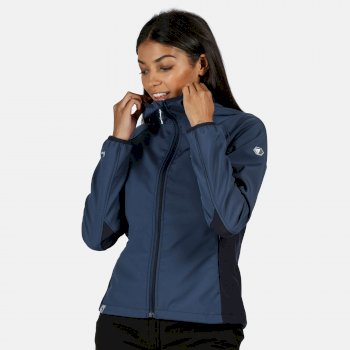 Women's Arec II Hooded Stretch Softshell Jacket Dark Denim Navy