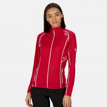 Women's Hentana II Lightweight Full Zip Stretch Midlayer Dark Cerise