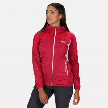 Women's Tarvos III Lightweight Softshell Hooded Walking Jacket Dark Cerise Neon Pink