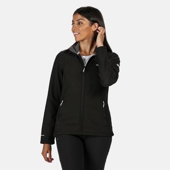 RWL190_800: Womens Connie IV Softshell Walking Jacket Black