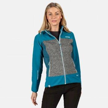 Women's Garn Wind Resistant Hooded Softshell Jacket Ocean Depths Ash