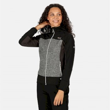 Women's Garn Wind Resistant Hooded Softshell Jacket Black Ash