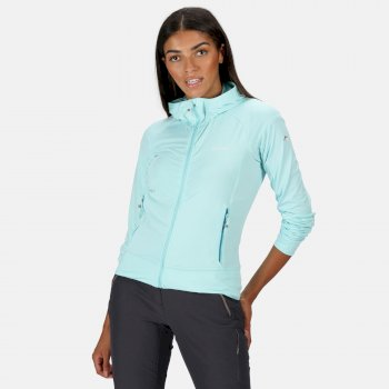 Women's Cuba Hooded Softshell Walking Jacket Cool Aqua
