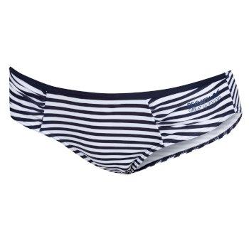 Women's Aceana Bikini Briefs Navy Stripe