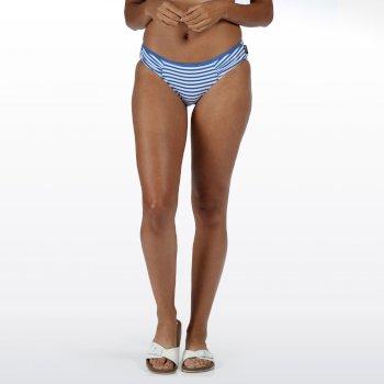 Women's Aceana Bikini Briefs Strong Blue Stripe