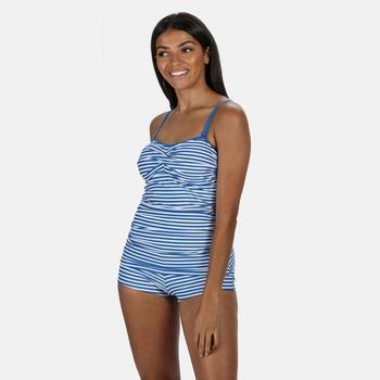 Women's Aceana Bikini Shorts Strong Blue Stripe