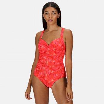 Women's Sakari Tummy Control Costume Red Sky Tropical Print