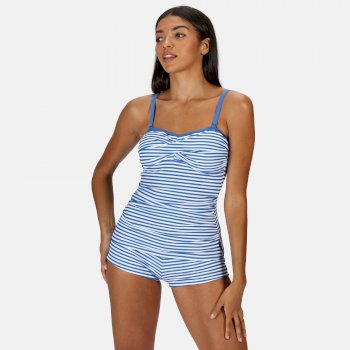 Women's Aceana II Tankini Top Strong Blue Stripe