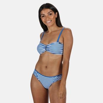 Women's Aceana III Bikini Top Strong Blue Stripe