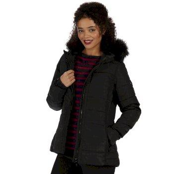 Wynne High Shine Insulated Puffer Jacket Black