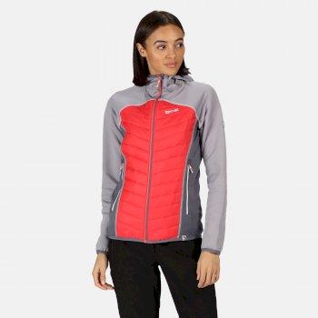 Women's Andreson IV Lightweight Hooded Hybrid Walking Jacket Dapple Red Sky
