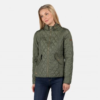 Women's Carita Lightweight Quilted Jacket Thyme Leaf