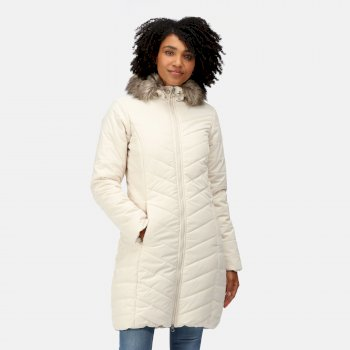 Women's Fritha Insulated Quilted Parka Jacket Light Vanilla