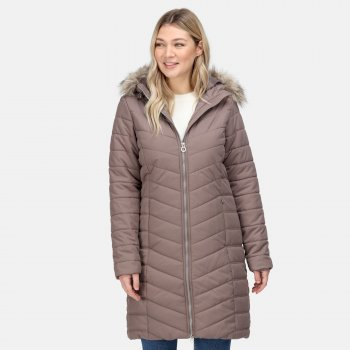 Women's Fritha Insulated Quilted Parka Jacket Coconut