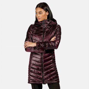 Women's Andell II Lightweight Insulated Quilted Hooded Parka Walking Jacket Prune