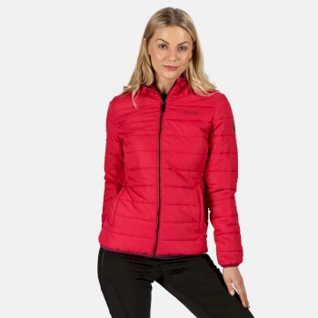 Women's Helfa Insulated Quilted Hooded Walking Jacket Dark Cerise