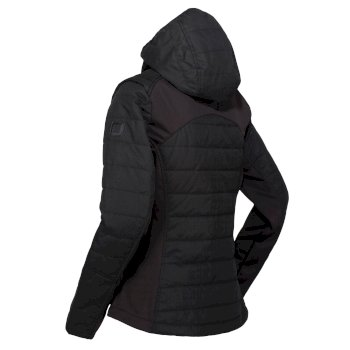 Women's Winsbury Lightweight Insulated Quilted Hooded Walking Jacket Black