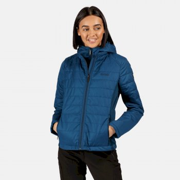 Women's Winsbury Lightweight Insulated Quilted Hooded Walking Jacket Blue Opal