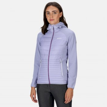 Women's Andreson V Hybrid Insulated Quilted Hooded Walking Jacket Lilac Bloom