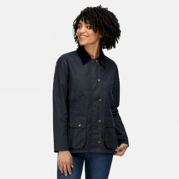 Women's Lady Country Wax Jacket Navy