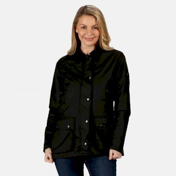 Women's Lady Country Water Repellent Wax Jacket Black