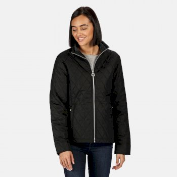 Women's Charna Insulated Diamond Quilted Jacket Black