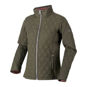 Women's Charna Insulated Diamond Quilted Jacket Grape Leaf Ditsy