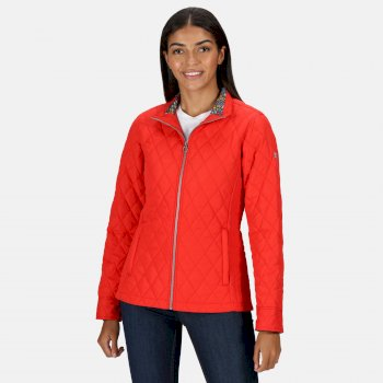 Women's Charna Insulated Diamond Quilted Jacket True Red