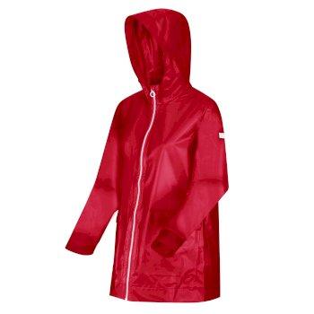 Women's Takala II Rubberised Waterproof Hooded Jacket True Red