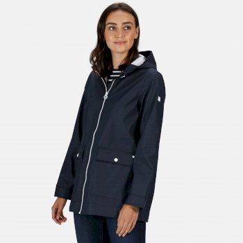 Women's Takala II Rubberised Waterproof Hooded Jacket Navy