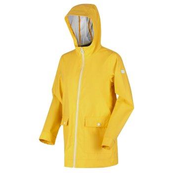 Women's Takala II Rubberised Waterproof Hooded Jacket Yellow Sulphur