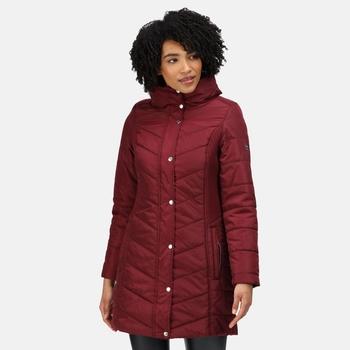 Women's Parthenia Insulated Parka Jacket Claret