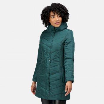 Women's Parthenia Insulated Parka Jacket Evergreen