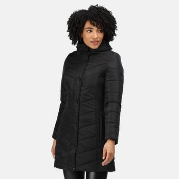 Women's Parthenia Insulated Parka Jacket Black