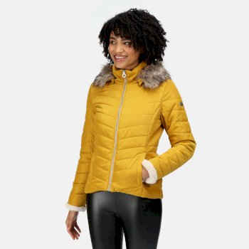 Women's Winslow Insulated Quilted Jacket Mustard Seed