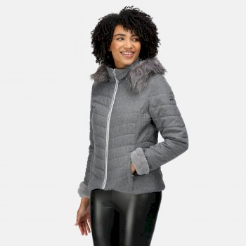 Women's Winslow Insulated Quilted Jacket Cyberspace Marl
