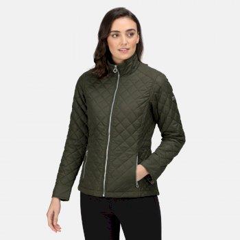 Women's Charleigh Quilted Insulated Jacket Dark Khaki
