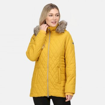 Women's Zalika Insulated Quilted Jacket Mustard Seed