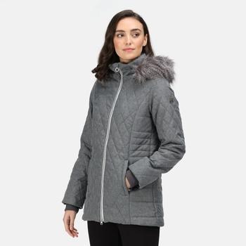 Women's Zalika Insulated Quilted Jacket Cyberspace Marl