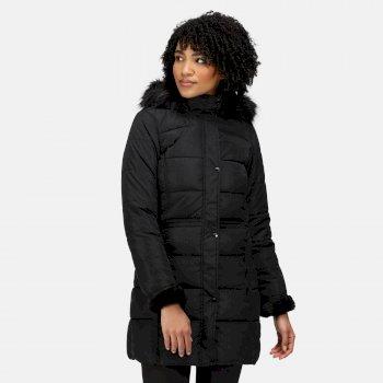 Women's Della Insulated Parka Jacket Black