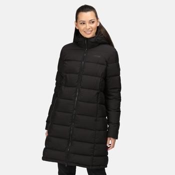 RWN196_800: Womens Pandia Insulated Parka Jacket Black