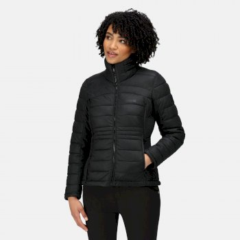 Women's Keava Insulated Quilted Jacket Black Glitter