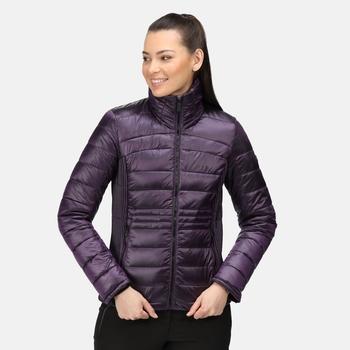 Women's Keava Insulated Quilted Jacket Dark Aubergine
