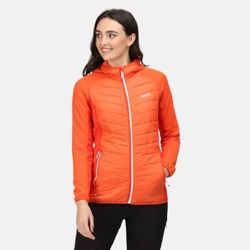 Women's Andreson VI Hybrid Insulated Quilted Jacket Tigerlilly Orange Cajun Orange