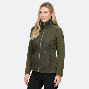 Women's Charlene Insulated Quilted Jacket Dark Khaki