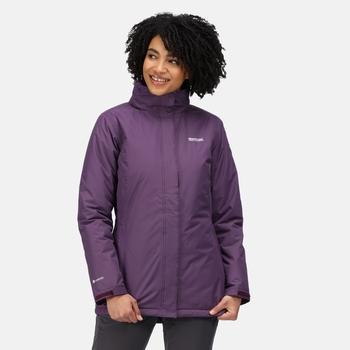 Women's Blanchet II Waterproof Insulated Jacket Dark Aubergine Purple Sapphire