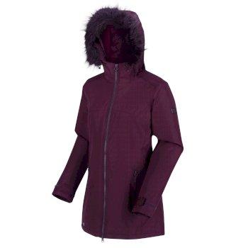 Damski płaszcz Myla bordowy