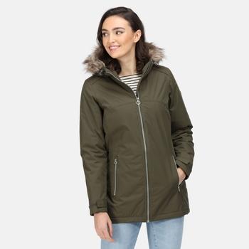 Women's Myla Waterproof Insulated Jacket Dark Khaki Neutral