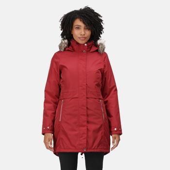 Women's Lexis Waterproof Insulated Parka Jacket Delhi Red